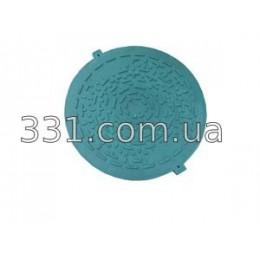 Крышка люка садового легкого полимерпещаного А15 (зелёная)