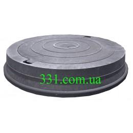 Люк магістральний каналізаційний полімерпіщаний чорний (Д400) (РА)