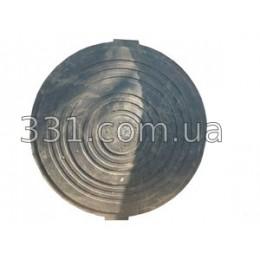 Крышка тяжёлого люка полимерпещаная чёрная Д-672 (С250)