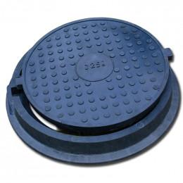Люк тяжелый канализационный полимерпесчаный (С250) (БВ)
