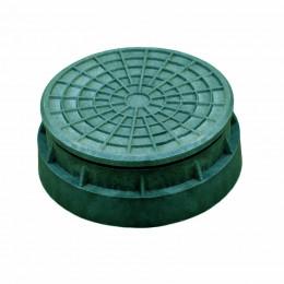 Люк Импекс-груп полимерпесчаный тип Л 315 под трубу зеленый 79751 П