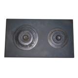Печное литье плита Импекс-груп двокомфорочная 710х410 ИН 19.05.91 П