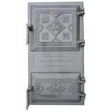 Печное литье дверка Импекс-груп спареная Вишиванка 265х480 БТ 79053 П