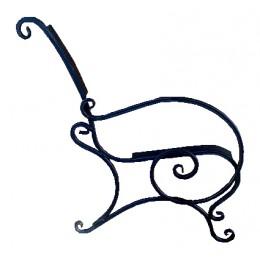Ножка металическая Запад с подлокотником №2 (9.1)