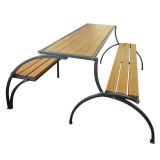 """Лавка + стол с металлическими ножками """"Трансформер"""""""