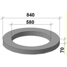 Кольцо опорное КО-6 (целое)